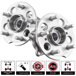 For 2001 2005 Toyota Rav4 Awd Non abs rear Pair Wheel Hub Unit Oe Replacement