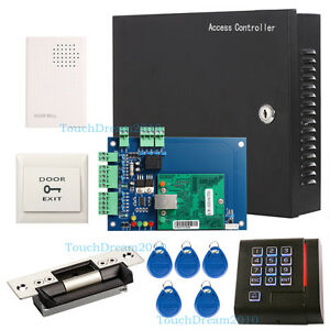 Key Card Access Control System For 1 Door With 110 240v Power Box Strike Lock