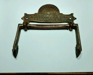 Antique Ornate A P W Paper Co Brass Toilet Paper Holder