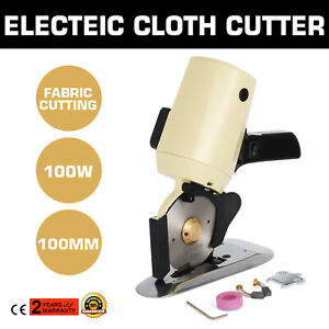 Electric Cloth Cutter Fabric Cutting Machine 100mm Blade Octa Round Knife