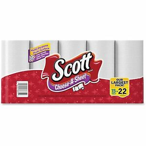 Scott Choose a size Mega Roll Paper Towels 1 ply White 102 roll 15 Roll pack