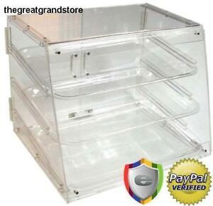 Update International Acrylic Tray Display Cases Retail Donut Pastry Polymer Easy