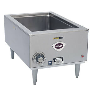Wells Smpt 12in X 20in 1650 Watt Countertop Bain Marie Food Warmer