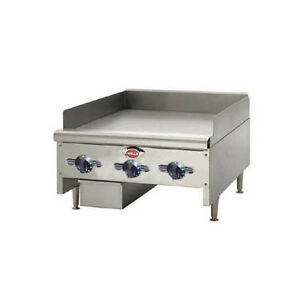 Wells Hdtg 2430g qs 24 Quickship Thermostatic Griddle W 3 4 Plate Nat