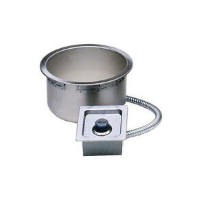 Wells Ss 10tduc 11qt Round Top Mount Built in Food Warmer W Drain 208v