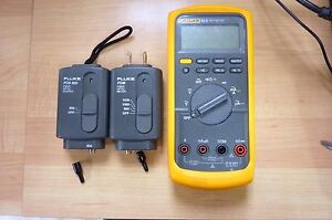 Fluke 83 V Multimeter W Fos 850 Fom Modules Excellent Condition Inv 5739 1