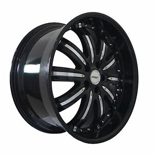 4 Gwg Wheels 20 Inch Black Chrome Narsis Rims Fits Land Rover Range Rover Evoque