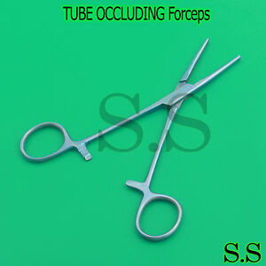 Tube Occluding Clamp Forceps 6 Titanium Serrated Surgical Instruments