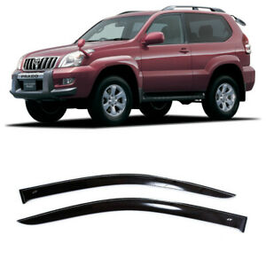 For Toyota Land Cruiser Prado 3d 03 08 Window Visors Rain Guard Vent Deflectors