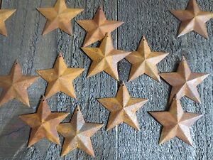 Lot Of 100 Rusty Barn Stars 2 25 In Dimensional 2 1 4 Country Rusted Tin Crafts