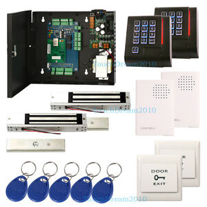 Double Door Access Control System With 280kg Mag Lock wired Doorbell rfid Reader