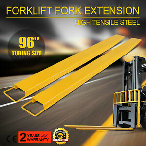 96x5 5 Forklift Pallet Fork Extensions Pair High Tensile Strength Retaining
