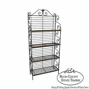 Vintage French Country Style Iron Bakers Rack