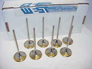 8 New 6 Mm Del West Titanium Intake Valves 5 775 2 195 135 Alloy 25 Iv 108