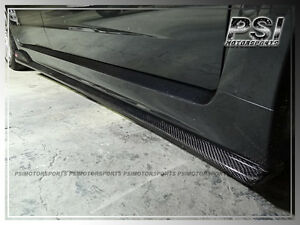 2008 2014 Subaru Impreza Gvf Wrx Sti Carbon Fiber Side Skirts Add On Lip Cf