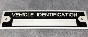 1 Blank Vehicle Identification Car Truck Trailer Frame Plate Model Id Tag
