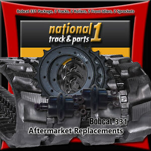 Bobcat 331 2 Rubber Tracks 300x52 5x80 2 Front Idlers 2 Rollers 2 Sprockets