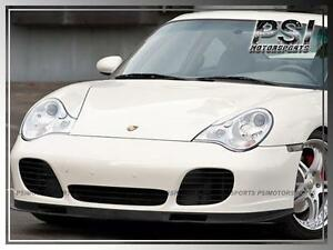 Oe Carbon Fiber Front Bumper Lip For 2001 2005 Porsche 911 996 Turbo Carrera 4s