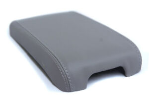 Center Console Armrest Leather Synthetic Cover For Cadillac Cts 03 07 Gray