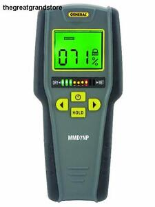 General Tools Instruments Pinless Moisture Detector Meter Digital Screen Lcd