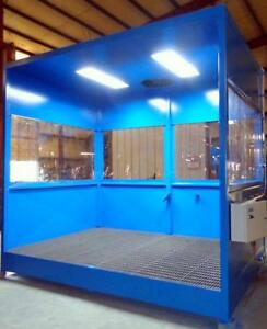 Parts Washer Wash Booth 4 X 8 3 Sides Without Ceiling