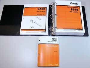 Case 1818 Uni loader Skid Steer Service Parts Operators Manual Owners Repair