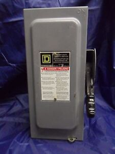 New Square D Safety Switch H221n 30 Amp 240v 2 Pole