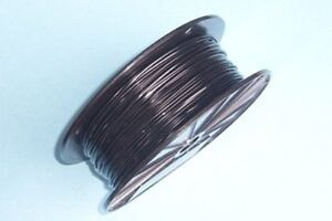 Black Vinyl Coated Wire Rope Cable 1 16 3 32 7x7 250 Ft Reel