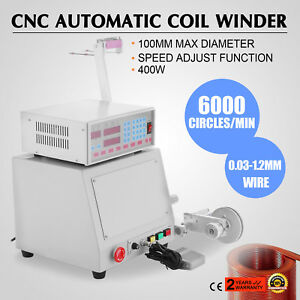 400w New Cnc Automatic Coil Winding Machine Micro computer Controlled Winder Up