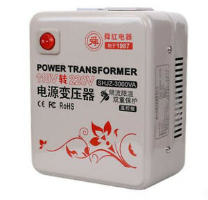 Shunhong 3000w 3kva Step Up Voltage Converter Transformer 110v 120v To 220v 240v