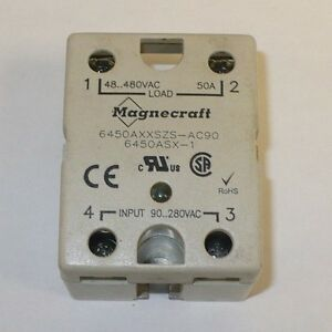 1 Pc Magnecraft 6450axxszs ac90 Panel Board Mount Solid State Relay Used