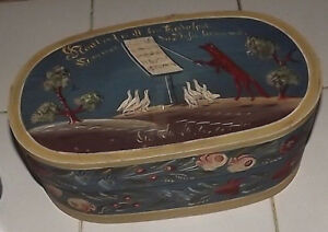 Antique German Pennsylvania Dutch Decorated Wolf Goose Wooden Brides Box