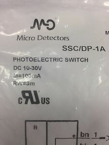 new Micro Detectors Photoelectric Switch Ssc dp 1a