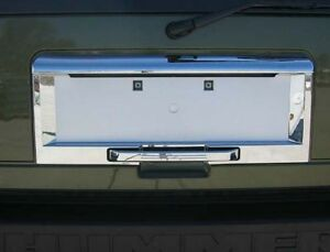 03 05 Hummer H2 Chrome Rear License Area Cover Tailgate Plate