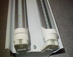 4 Ft Led Light Fixture With T8 Led Bulbs Shop And Garage Clear Bulbs Free Ship