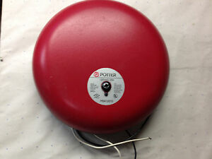 New Vintage 10 Fire Alarm Bell Potter 120 Vac 85db at 10 Ft Pba12010 Loud