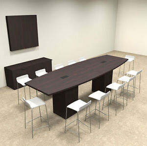 Boat Shape Counter Height 12 Feet Conference Table of con ct11