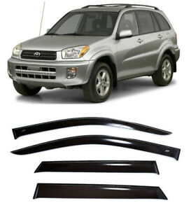 For Toyota Rav4 5d 2000 2005 Side Window Visors Sun Rain Guard Vent Deflectors