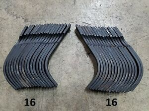 16 Each Lh rh Replacement Tines For Bushhog Rts rtl Tiller Part 64454 And 64452