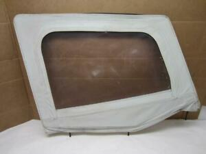 Fits 1987 1995 Jeep Wrangler Right Hand Half Door Soft Upper Window white