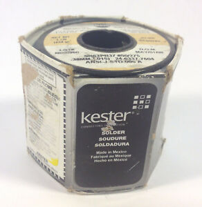 Kester 24 6337 7604 Flux Core Solder Wire 275 no clean Flux 015 Dia 1lb Roll