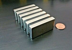 10 ten Neodymium N52 Block Magnet Super Strong Rare Earth 2 X 1