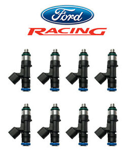 Genuine Ford Racing 52 52 Lb Pound Fuel Injectors Ev14 Set Of 8 M 9593 mu52