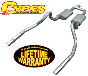 1998 2004 Mustang V6 3 8l Pypes 2 5 Stainless Exhaust System W 3 Polished Tips