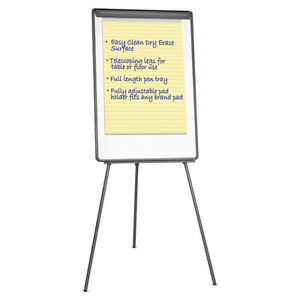 Universal Lightweight Tripod Style Dry Erase Easel 29 X 41 White black