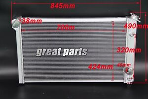 New 3 Rows All Aluminum Radiator Fit 1973 1976 Chevy Corvette V8 74 75