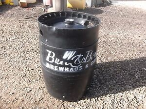 Beer Keg Black Plastic 15 1 2 Gallons Used Once They Have Beer Residue In Them