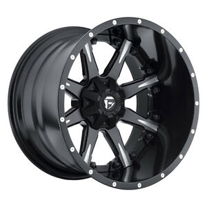 Fuel Nutz D251 20 20x12 Black Free Lugs 8x6 5 8x165 1 44 Rim Wheel