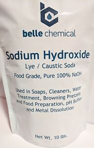 Sodium Hydroxide 100 Pure 20lb caustic Soda Lye Food Grade