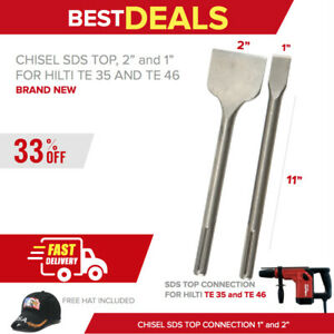 Chisel Sds Top 1 And 2 X 11 New For Hilti Te 35 Free Hat Fast Shipping